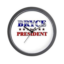 BRYCE for president Wall Clock