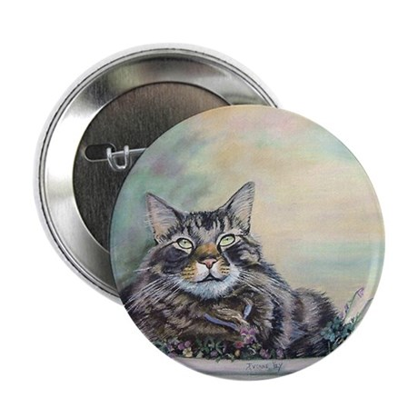 """Maine Coon Cat Rambo 2.25"""" Button (10 pack)"""