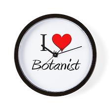 I Love My Botanist Wall Clock