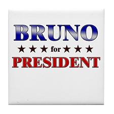 BRUNO for president Tile Coaster