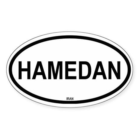 Hamedan Oval Sticker