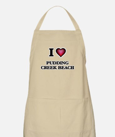 I love Pudding Creek Beach California Apron