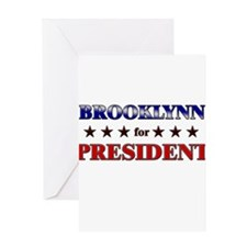 BROOKLYNN for president Greeting Card
