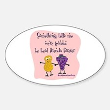 Best Friends Forever Oval Decal