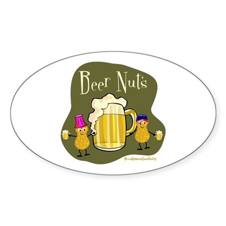 Beer Nuts Oval Sticker