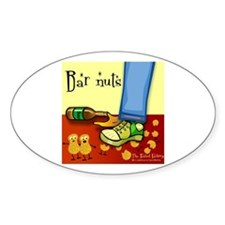 Bar Nuts Oval Decal
