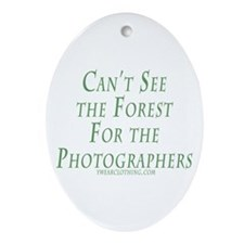 Forest for the Photographerss Oval Ornament