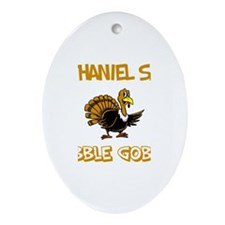 Nathaniel Says Gobble Gobble Oval Ornament