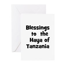 Blessings  to  the  Haya of T Greeting Cards (Pk o