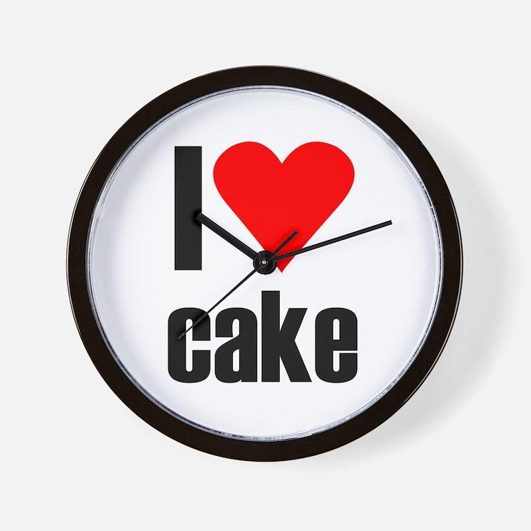 I love cake Wall Clock