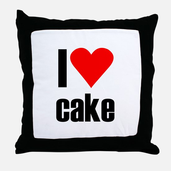 I love cake Throw Pillow