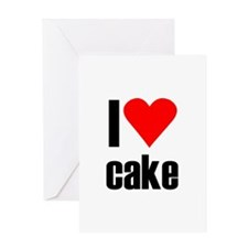 I love cake Greeting Card