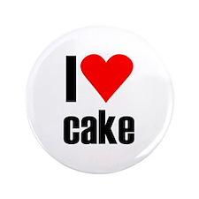 "I love cake 3.5"" Button"