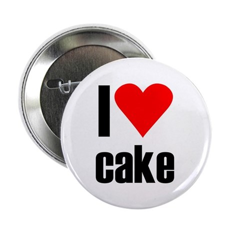 """I love cake 2.25"""" Button (100 pack)"""