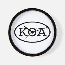 KOA Oval Wall Clock