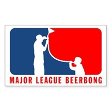 Magor Leage Beer Bong Rectangle Bumper Stickers