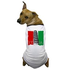 Pisa Italian Flag Dog T-Shirt