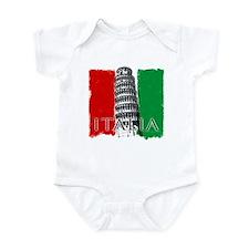 Pisa Italian Flag Infant Bodysuit