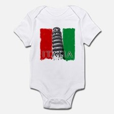 Pisa Italian Flag Infant Bodysuit