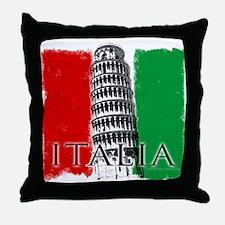 Pisa Italian Flag Throw Pillow