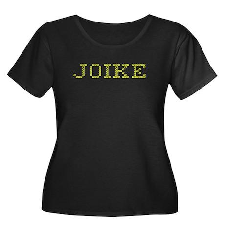 JOIKE Women's Plus Size Scoop Neck Dark T-Shirt
