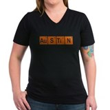 Austin Womens V-Neck T-shirts (Dark)