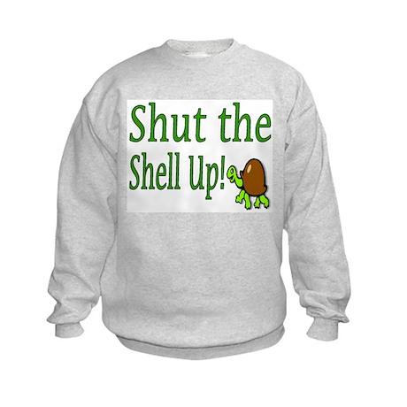 shut the shell up Kids Sweatshirt