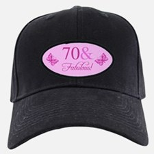 Fabulous 70th Birthday Baseball Hat