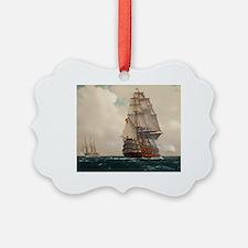 Cute Ship nautical compass sail pirate Ornament