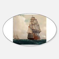 Cute Oil painting Sticker (Oval)
