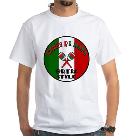 Ortiz Cinco De Mayo White T-Shirt