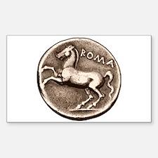 Horse Coin, Roman Stallion. Rectangle Decal