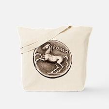 Horse Coin, Roman Stallion. Tote Bag