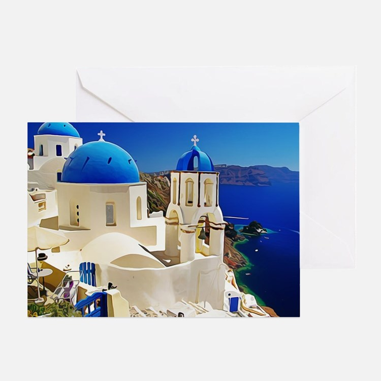 Cute Greece Greeting Card