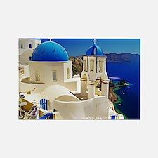 Unique Greek islands Rectangle Magnet