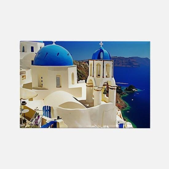 Cute Greek Rectangle Magnet