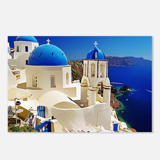 Cute Greece Postcards (Package of 8)