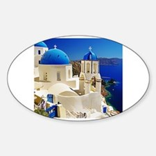Cute Santorini Sticker (Oval)