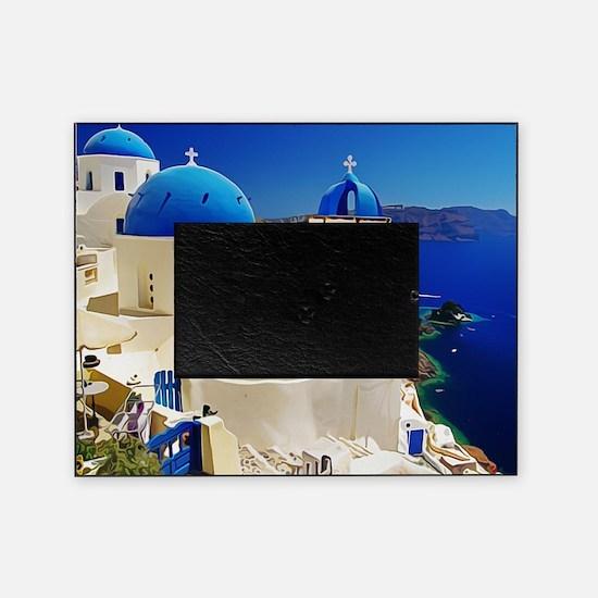 Cute Greek islands Picture Frame