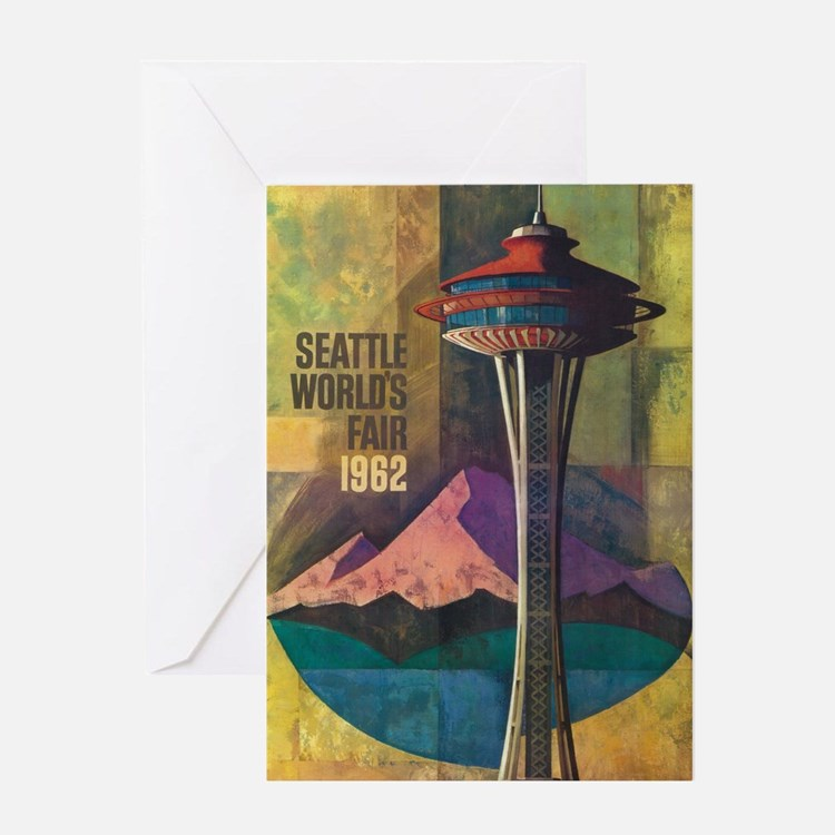 Seattle, WA - Space Needle World's Fair Greeting C