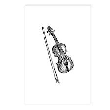 Woodcut Violin/Fiddle Postcards (8)