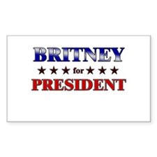BRITNEY for president Rectangle Decal