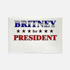 BRITNEY for president Rectangle Magnet