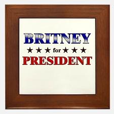 BRITNEY for president Framed Tile