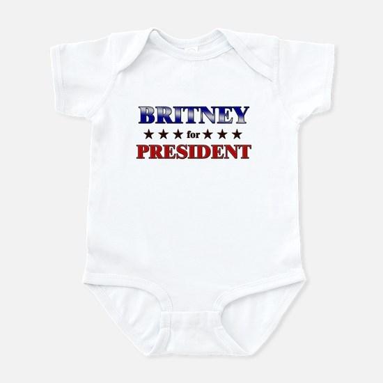 BRITNEY for president Infant Bodysuit