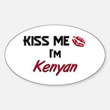 Kiss me I'm Kenyan Oval Decal