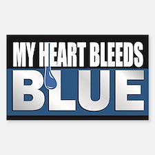 My Heart Bleeds Blue Decal