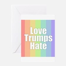 Love Trumps Hate - Rainbow Greeting Cards