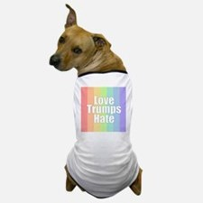 Love Trumps Hate - Rainbow Dog T-Shirt