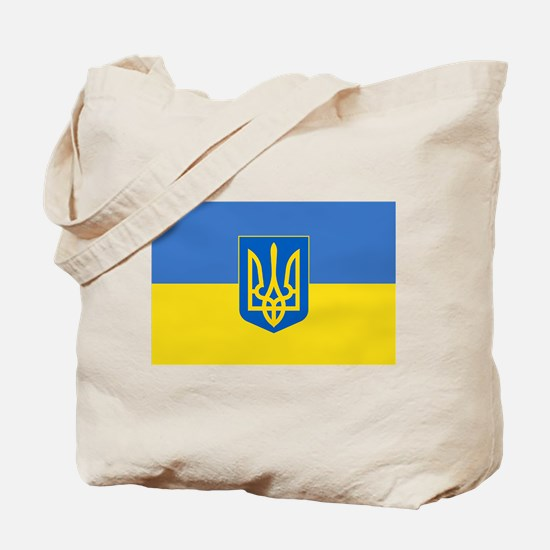 Ukrainian flag, trizub Tote Bag